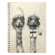 Mr. and Mrs. Ostrich Spiral Notebook