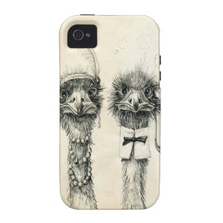 Mr. and Mrs. Ostrich Vibe iPhone 4 Case