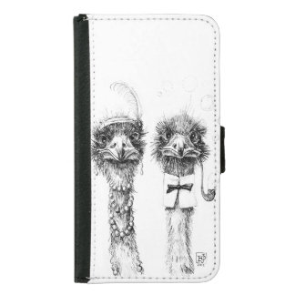 Mr. and Mrs. Ostrich Wallet Phone Case For Samsung Galaxy S5