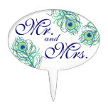 Mr. and Mrs. Peacock Cake Topper