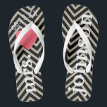 "Mr. and Mrs. Personalized Honeymoon with Heart Flip Flops<br><div class=""desc"">A perfect design for a beach wedding or for the honeymoon. Change the Mrs. to Mr. to make a coordinating pair.</div>"