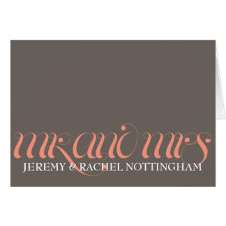 Mr. and Mrs. Personalized Notecards Card