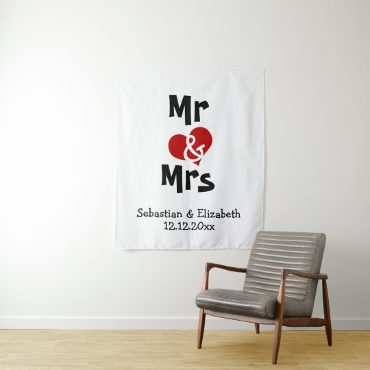 Mr And Mrs Photo Backdrop Personalized Wedding