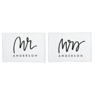 Mr and Mrs | Pillow Cases