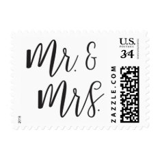 Mr. And Mrs. Post Stamp at Zazzle