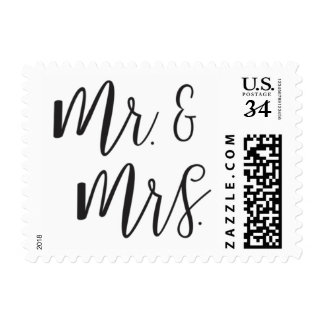 Mr. and Mrs. Post Stamp