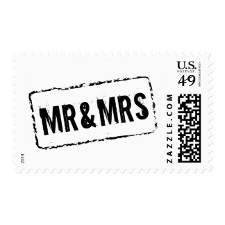 Mr and Mrs postage stamps