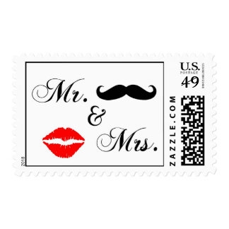 Mr and Mrs. Postage Stamps 4