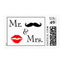 Mr and Mrs. Postage Stamps | Kissing Booth