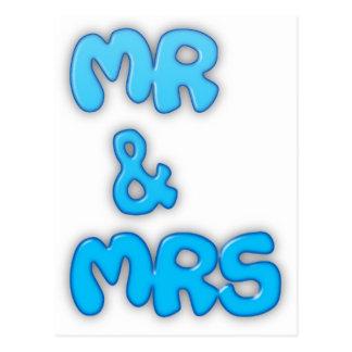 Mr And Mrs Postcard