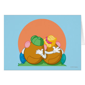 Mr. and Mrs. Potato Head at Sunset Greeting Card
