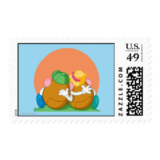Mr. and Mrs. Potato Head at Sunset Postage