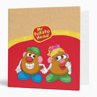 Mr. and Mrs. Potato Head Holding Hands Vinyl Binders