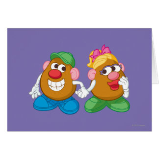 Mr. and Mrs. Potato Head Holding Hands Card