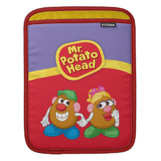 Mr. and Mrs. Potato Head Holding Hands iPad Sleeves