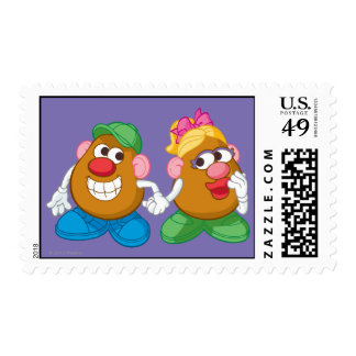 Mr. and Mrs. Potato Head Holding Hands Postage