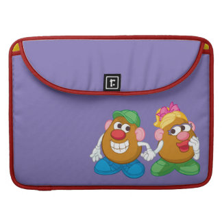 Mr. and Mrs. Potato Head Holding Hands Sleeves For MacBooks