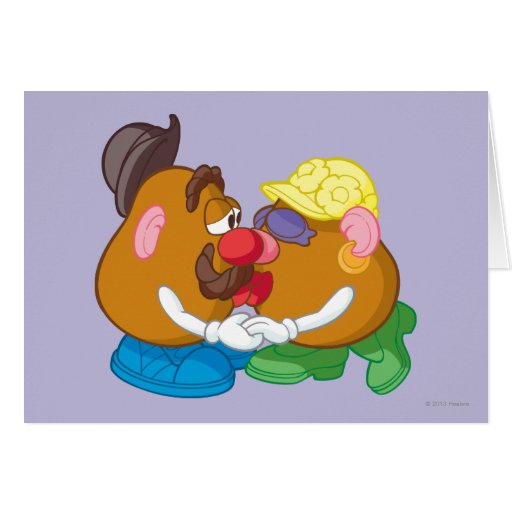 Mr. and Mrs. Potato Head Kissing Greeting Cards