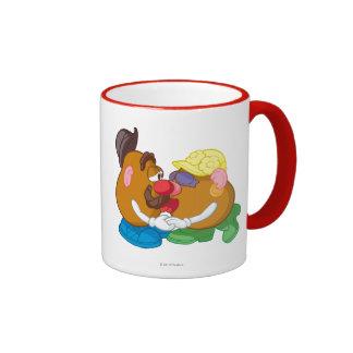 Mr. and Mrs. Potato Head Kissing Ringer Coffee Mug