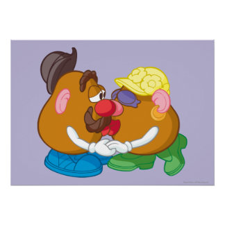 Mr. and Mrs. Potato Head Kissing Poster