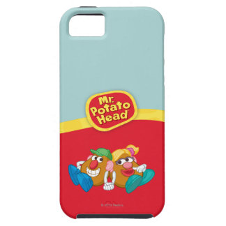 Mr. and Mrs. Potato Head Laying Down Holding Hands iPhone SE/5/5s Case