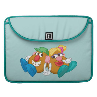 Mr. and Mrs. Potato Head Laying Down Holding Hands MacBook Pro Sleeve