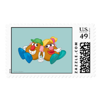 Mr. and Mrs. Potato Head Laying Down Holding Hands Postage