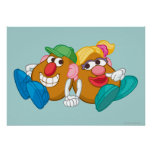 Mr. and Mrs. Potato Head Laying Down Holding Hands Poster