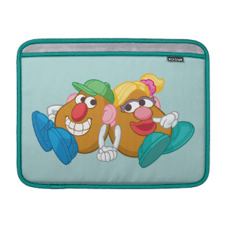Mr. and Mrs. Potato Head Laying Down Holding Hands Sleeve For MacBook Air