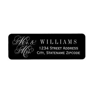 Mr. and Mrs. Return Address   Custom Color Label