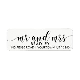Mr and Mrs Return Address Labels