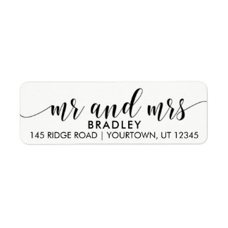 Mr and Mrs Return Address Labels