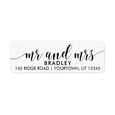autumnandpine Mr and Mrs Return Address Labels
