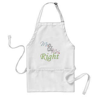 Mr and Mrs Right Apron