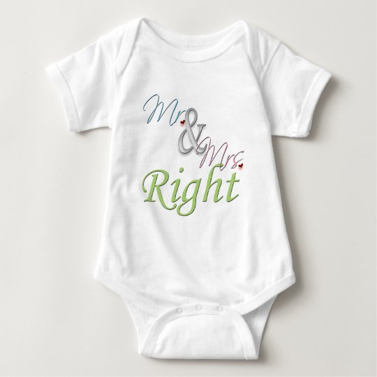 Mr. and Mrs. Right Baby Bodysuit