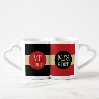 Mr. and Mrs. Right Couples Mug