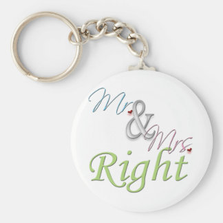 Mr. and Mrs. Right Keychain
