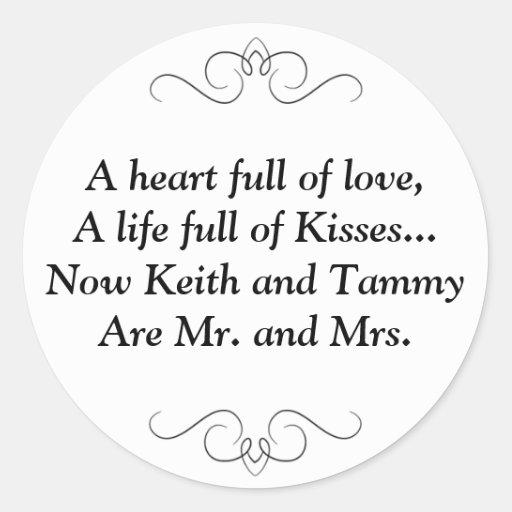Mr. and Mrs. Round Sticker