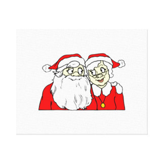 Mr and Mrs Santa Claus Canvas Print