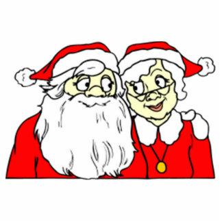 Mr and Mrs Santa Claus Cutout