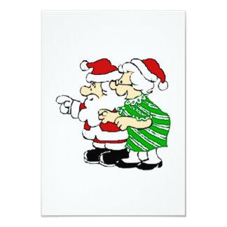 "Mr and Mrs Santa Claus 3.5"" X 5"" Invitation Card"