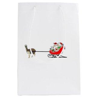 Mr. And Mrs. Santa Claus Medium Gift Bag