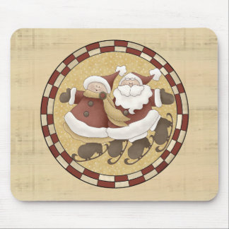 Mr and Mrs Santa Claus Mouse Pad