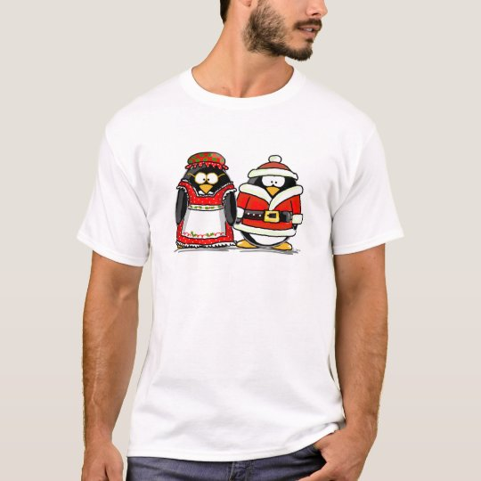 Mr. and Mrs. Santa Claus Penguin T-Shirt