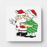 Mr and Mrs Santa Claus Photo Plaque