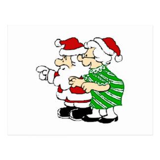 Mr and Mrs Santa Claus Postcard