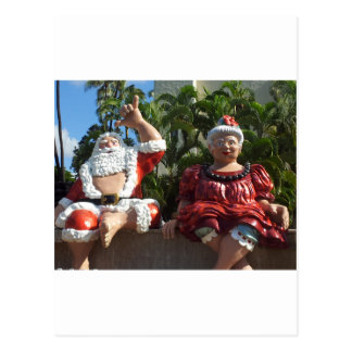 Mr and Mrs Santa Claus Postcard