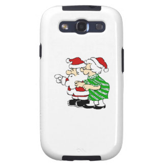 Mr and Mrs Santa Claus Samsung Galaxy SIII Cases