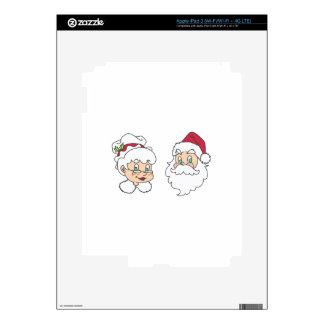 MR AND MRS SANTA CLAUS DECAL FOR iPad 3