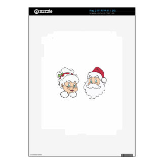 MR AND MRS SANTA CLAUS SKIN FOR THE iPad 2